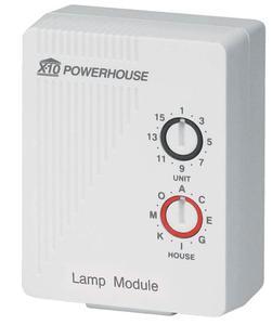 An X10 lamp module
